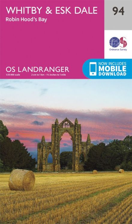 OS Landranger 94 Whitby and Esk Dale